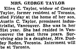 Toronto Globe and Mail, September 6, 1948, page 5, column 3.