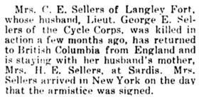 The Chilliwack Progress, November 28, 1918, page 4, column 1.