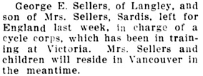 The Chilliwack Progress, December 23, 1915, page 8, column 3.