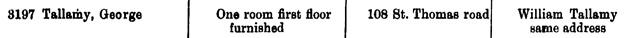 Ancestry.com. London, England, Electoral Registers, 1832-1965 [database on-line]. Provo, UT, USA: Ancestry.com Operations, Inc., 2010. Original data: Electoral Registers. London, England: London Metropolitan Archives. George Tallamy, 1910.