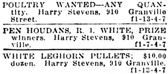 Vancouver Daily World, April 13, 1916, page 14, column 7.