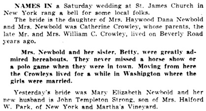 Detroit Free Press, May 11, 1952, page 50, columns 3-4.