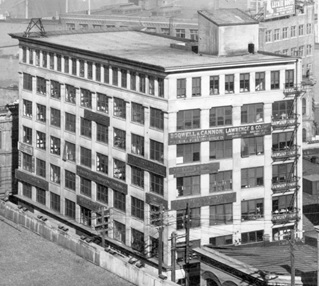 Mercantile Building, 318 Homer Street, 1910 to 1920, detail from Centre Business Section, Vancouver City Archives, M-11-40; http://searcharchives.vancouver.ca/centre-business-section.