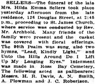 Victoria Daily Colonist, May 9, 1920, page 7, column 5; http://archive.org/stream/dailycolonist62y125uvic#page/n6/mode/1up.