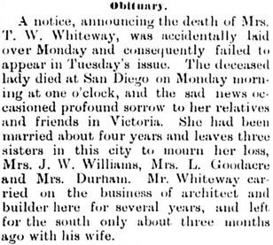 Victoria Daily Colonist, June 13, 1888, page 4, column 2; http://archive.org/stream/dailycolonist18880613uvic/18880613#page/n3/mode/1up.