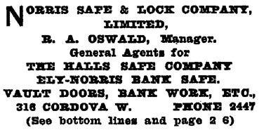 Henderson's Greater Vancouver Directory, Part 2, 1911, page 980.
