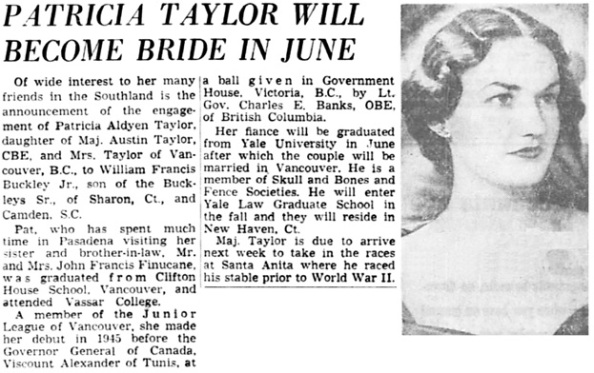 The Los Angeles Times, January 15, 1950, page 84, columns 4-6.