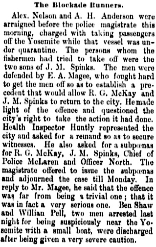 Richard Coupland Spinks - Vancouver Daily World - July 14 1892 - page 8 - column 2.