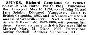 Who's Who and Why: volumes 6-7, Vancouver, International Press Limited, 1914, page 1019; https://books.google.ca/books?id=dy9if3Yix8UC&pg=PA1019&lpg=PA1019#v=onepage&q&f=false.