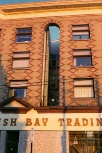 Simpson Block, 1977, Vancouver City Archives; Corner property, Denman and Davie, CVA 140-2; http://searcharchives.vancouver.ca/corner-property-denman-and-davie.
