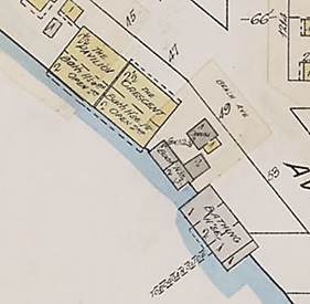 Simpson's Boat House, detail from Insurance plan of the city of Vancouver, British Columbia, July 1897, revised June 1901, sheet 45, http://data2.archives.ca/e/e427/e010674747-v8.jpg.
