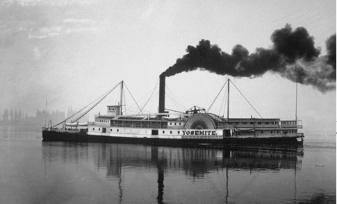 The steamboat Yosemite, 1887, Vancouver City Archives, 2011-010.1711 [colour removed].