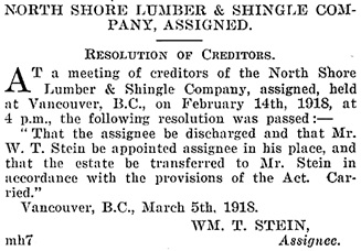 British Columbia Gazette, March 7, 1918, page 566, column 2; https://archive.org/stream/governmentgazett58nogove_z1n1#page/566/mode/1up.