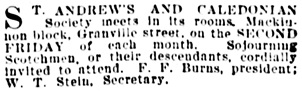 Vancouver Daily World, March 8, 1901, page 6, column 6.