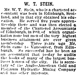 Vancouver Daily World, June 20, 1896, page 29, column 7.