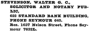 Henderson's Greater Vancouver City Directory, 1919, page 854.
