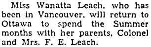 The Ottawa Journal, June 25, 1941, page 10, column 3.