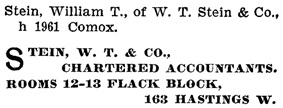 Henderson's City of Vancouver Directory, 1906, page 593.