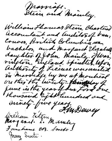 Stein William Thomas 1867 1924