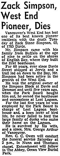 Vancouver Sun, February 11, 1949, page 38.
