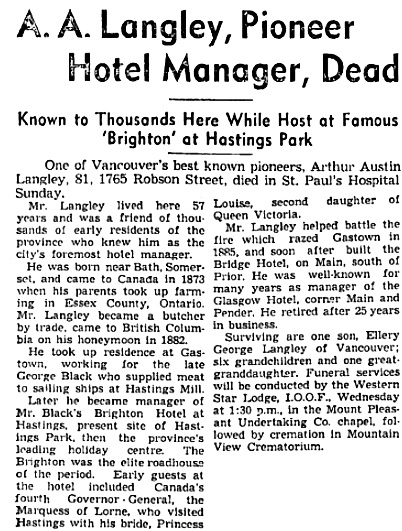 Vancouver Sun, October 16, 1939, page 10, columns 1-2; https://news.google.com/newspapers?id=cDJlAAAAIBAJ&sjid=NYkNAAAAIBAJ&pg=1146%2C1997678.