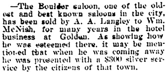 Vancouver Daily World, September 20, 1901, page 8, column 3.