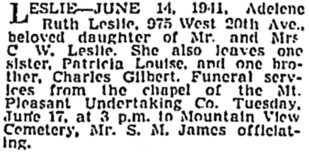 Vancouver Sun, June 16, 1941, page 14, column 1; https://news.google.com/newspapers?id=cTNlAAAAIBAJ&sjid=O4kNAAAAIBAJ&pg=933%2C4415425 [also in Vancouver Province, June 16, 1941, page 13].