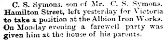 Vancouver Daily World, January 9, 1890, page 4, column 1.