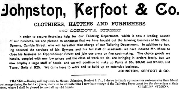 Vancouver Daily World, April 16, 1889, page 3, columns 3-5.