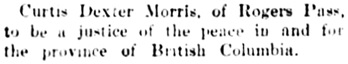 Vancouver Daily World, October 3, 1902, page 6, column 2.