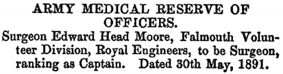 The London Gazette, May 29, 1891, page 2861; https://www.thegazette.co.uk/London/issue/26166/page/2861.