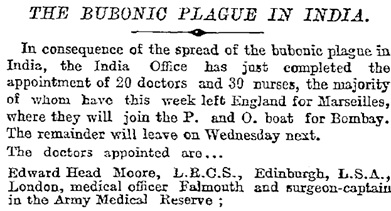 The Times (London, England), September 16, 1899, Issue 35936, page 7, column 4.