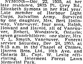 Vancouver Sun, December 23, 1955, page 28, column 3; https://news.google.com/newspapers?id=5TtlAAAAIBAJ&sjid=vYkNAAAAIBAJ&pg=1195%2C4757621.