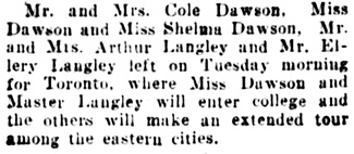 Vancouver Daily World, September 7, 1907, page 15, column 3.