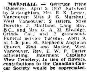Vancouver Province, April 6, 1957, page 31.