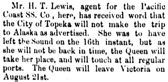 Vancouver Daily World, August 16, 1893, page 8, column 2.