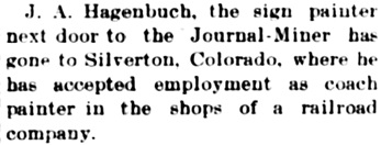 Weekly Journal-Miner (Prescott, Arizona); May 20, 1903, page 4, column 3.