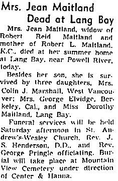 Vancouver Sun, August 4, 1938, page 2.