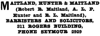 Henderson's Greater Vancouver City Directory Part 2, 1914, page 1055.