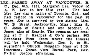 Vancouver Sun, December 8, 1931, page 14, column 1; https://news.google.com/newspapers?id=UzBlAAAAIBAJ&sjid=7ogNAAAAIBAJ&pg=2982%2C936063.