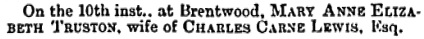 The Bury and Norwich Post (Bury, England); July 18, 1871, page 6, column 5.