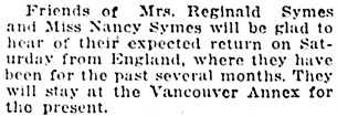 Vancouver Daily World, October 17, 1919, page 6, column 2.