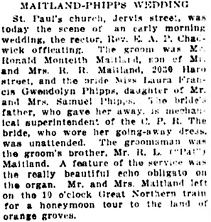 Vancouver Daily World, September 27, 1911, page 17, column 74.