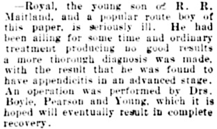 Vancouver Daily World, November 27, 1901, page 8, column 3.