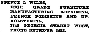 Henderson's Vancouver Directory, 1920, page 946.