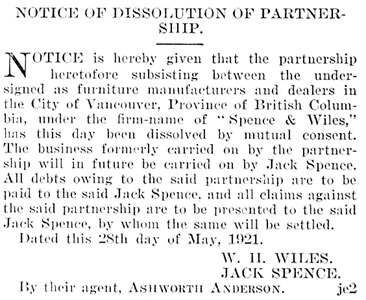 British Columbia Gazette, June 2, 1921, page 1888, column 2; https://archive.org/stream/governmentgazett61nogove_p7v9#page/1888/mode/1up.