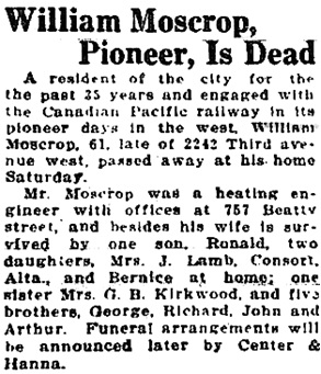 Vancouver Sun, March 19, 1928, page 3.