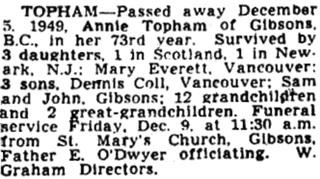Vancouver Sun, December 7, 1949, page 34.