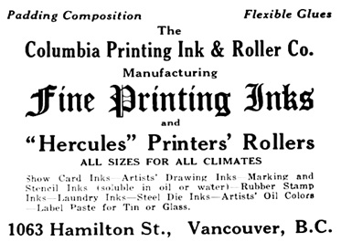 Canadian Printer & Publisher, January 1920, page 48; https://archive.org/stream/canprinterpublish1920toro#page/n55/mode/1up.
