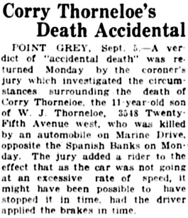 Vancouver Daily World, September 5, 1923, page 2, column 3.